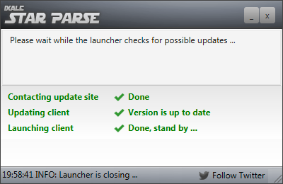 StarParse Launcher - keeps the Client updated